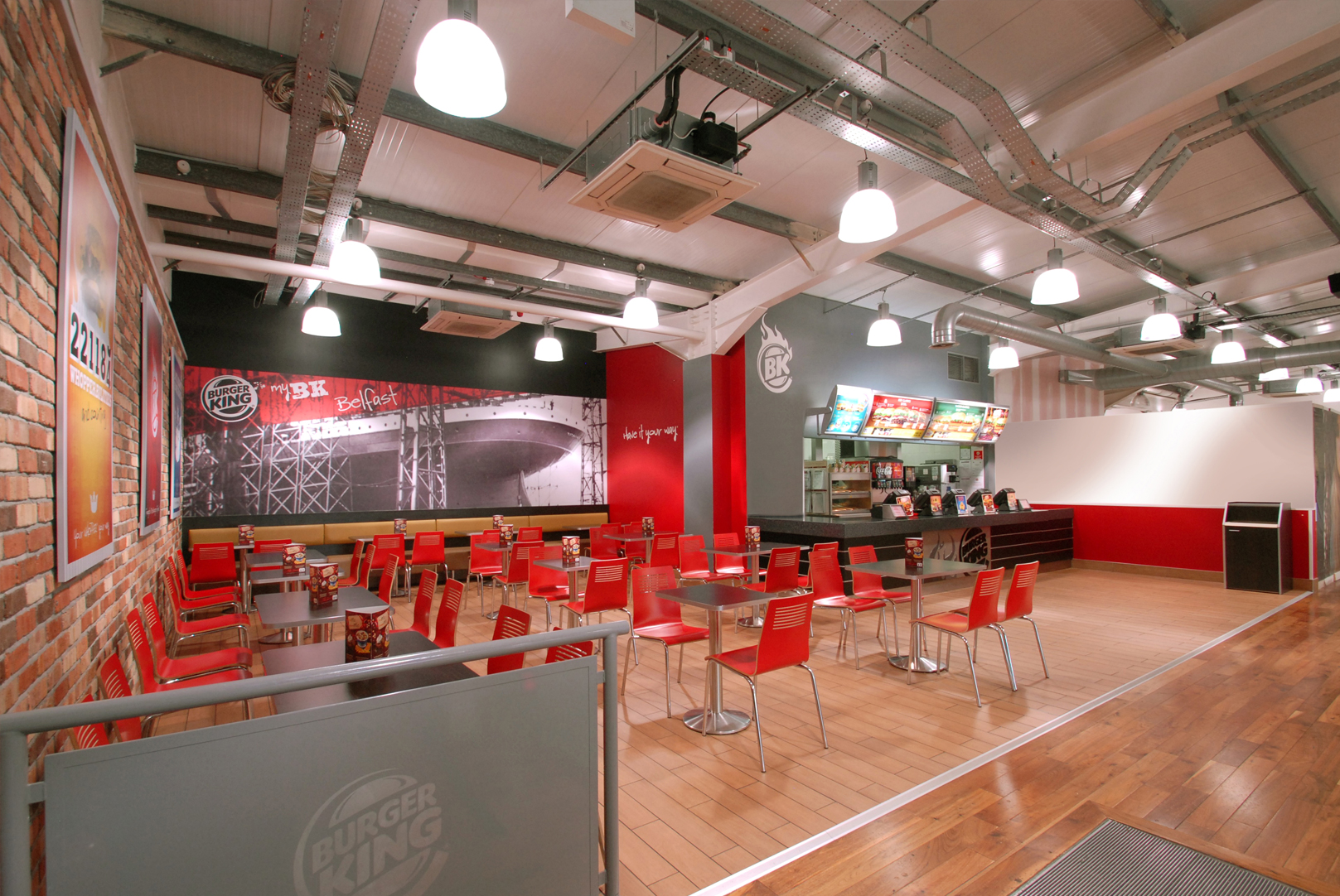 Burger king restaurant design boucher retail park belfast